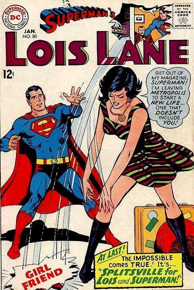 Superman, lois lane, comic book cover