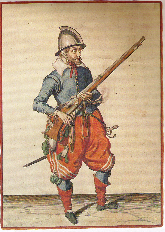 Soldier holding musket