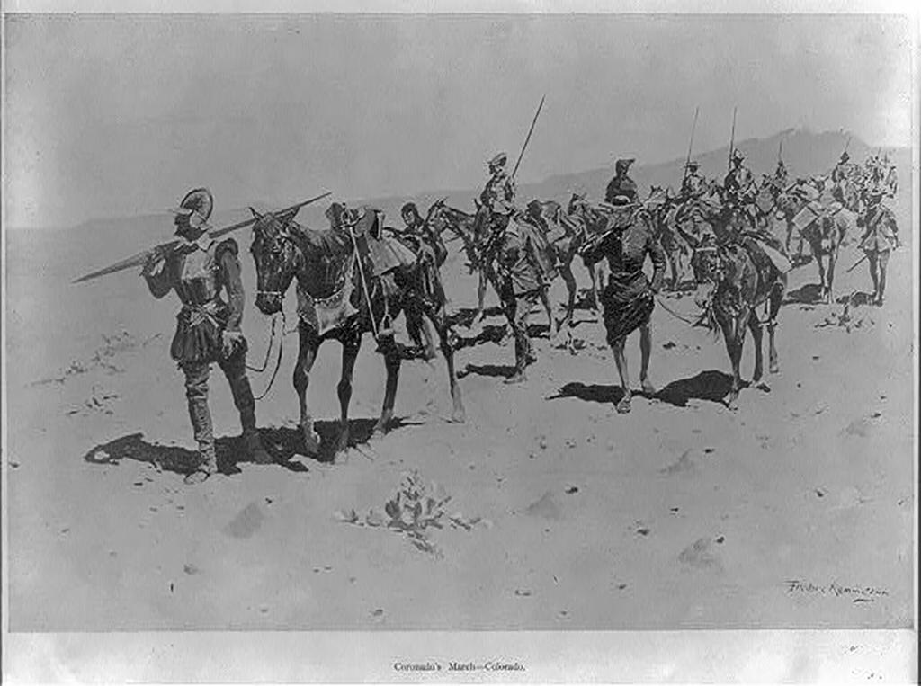 Coronado marching north through the Southwest