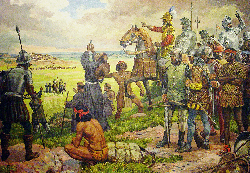 Coronado's advance into the Southwest