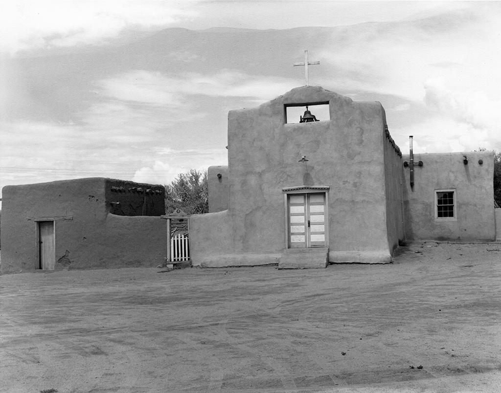 Mission church at Tesuque Pueblo