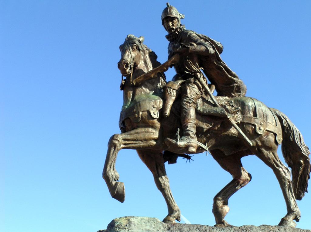 Juan de Oñate atop his horse