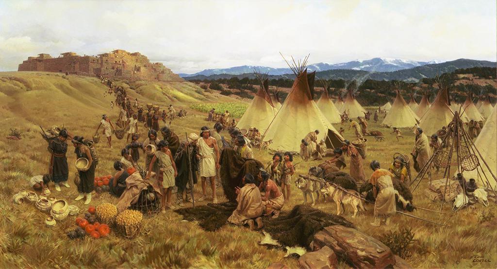 Annual trade fair at Pecos Pueblo