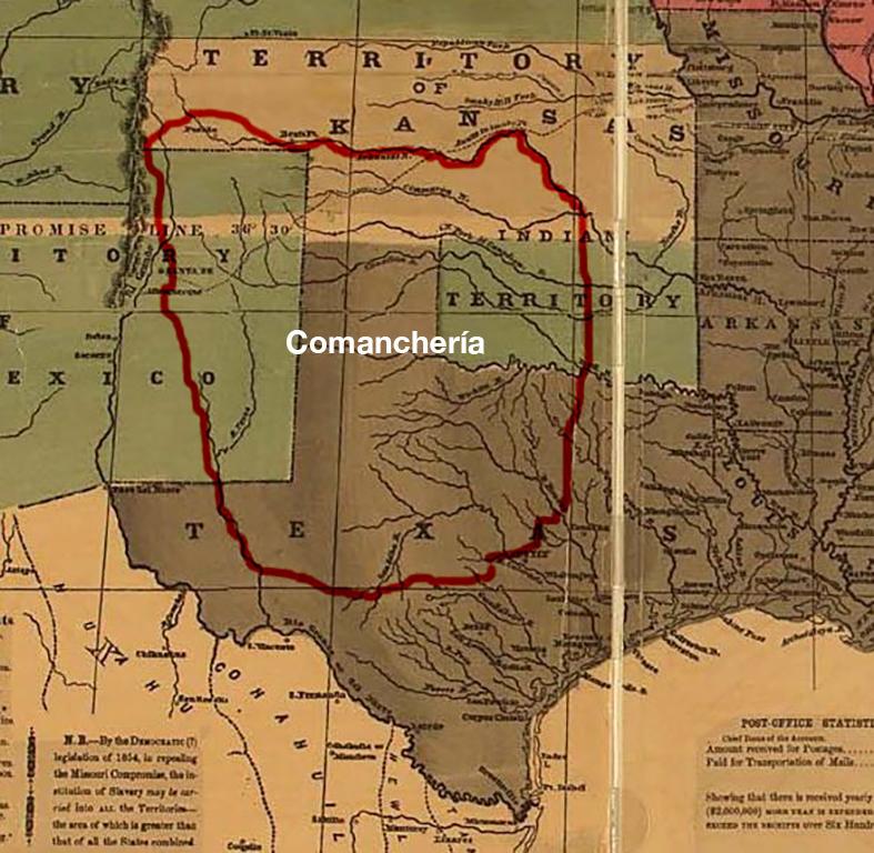 1856 Comanchería map