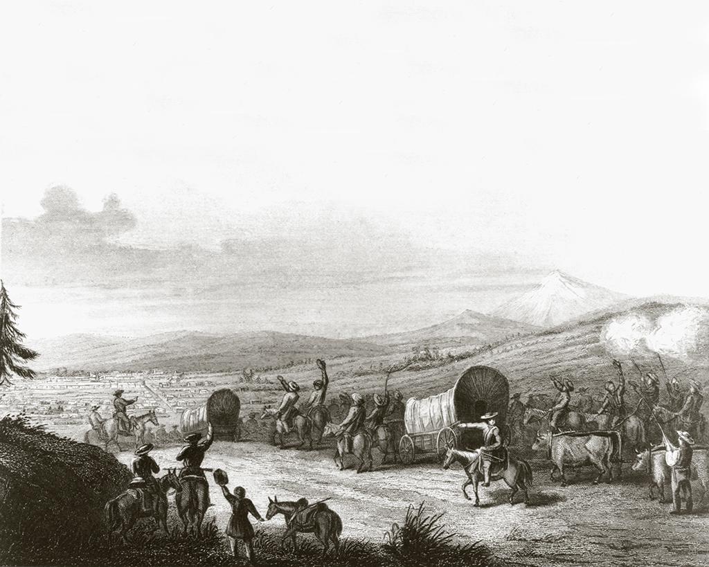 Missouri traders arriving in Santa Fe