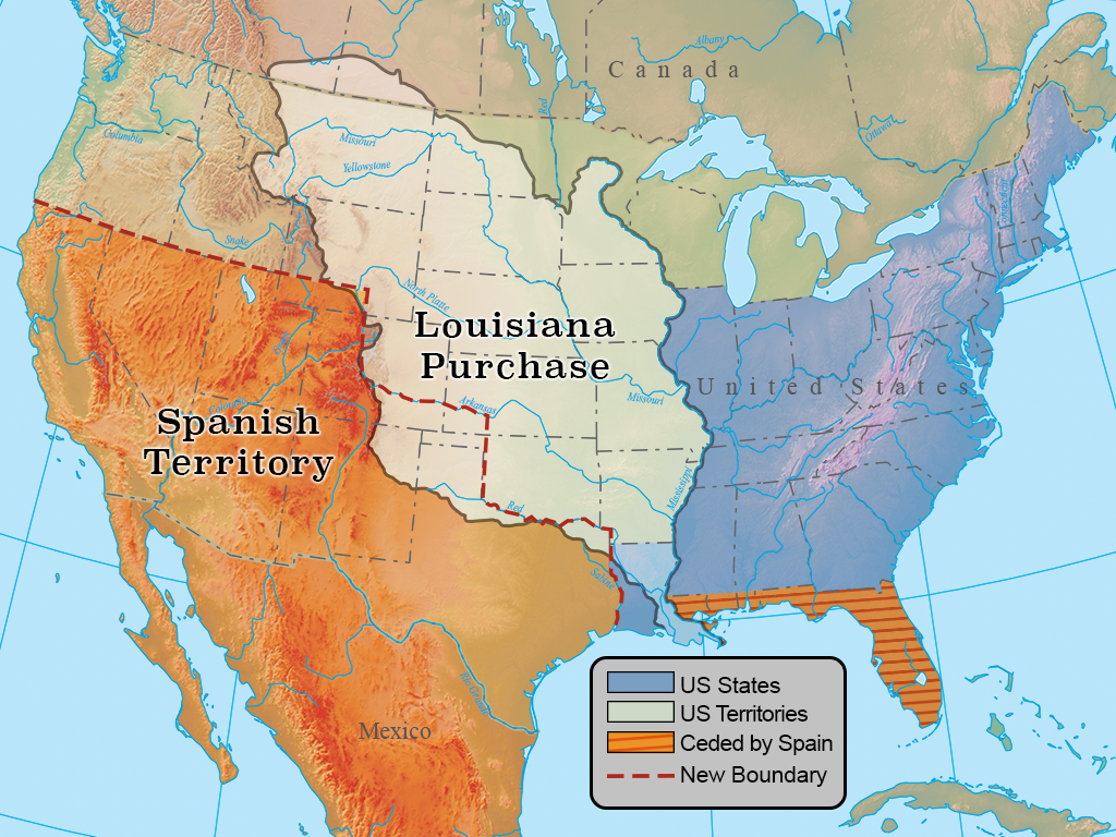 Confines of the Louisiana Purchase (1803)