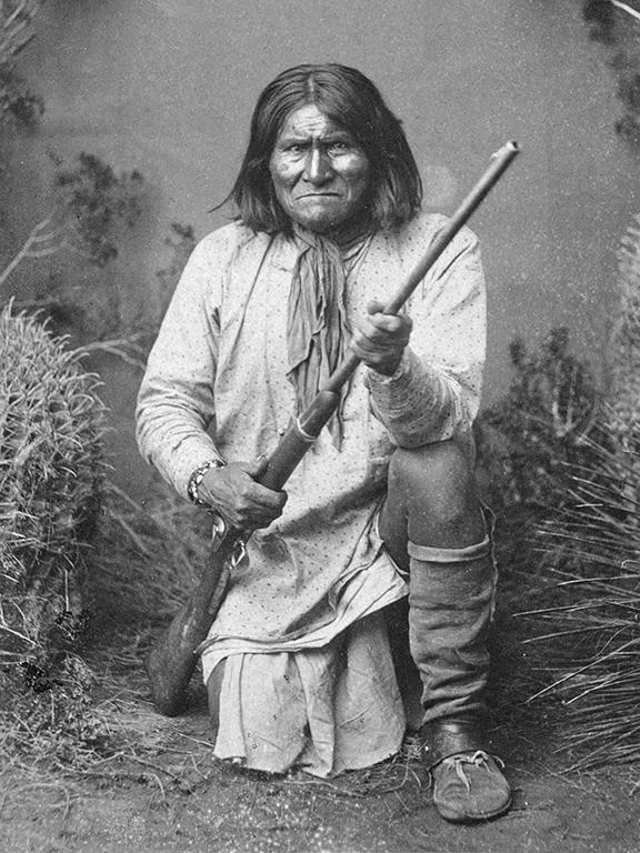 Geronimo with a rifle
