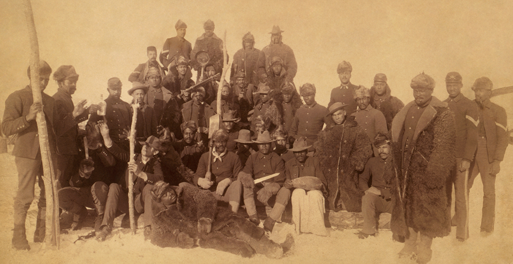 Buffalo Soldiers of the 25th Infantry at Ft. Keogh, Montana, in 1890