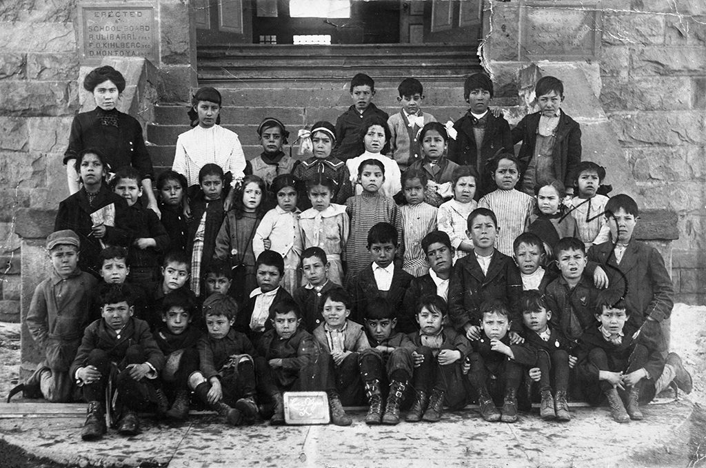 Students from the North Public School in Las Vegas, New Mexico during the last decade of the nineteenth century