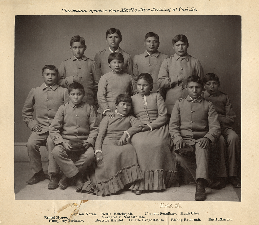 Chiricahua students at the Carlisle Indian School