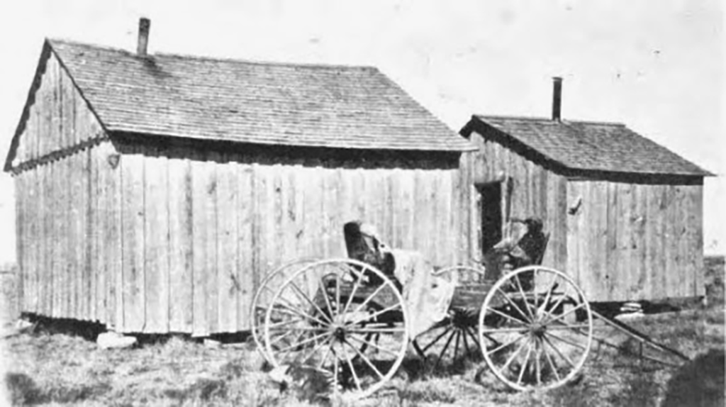 David Profitt's house and buggy in Blackdom