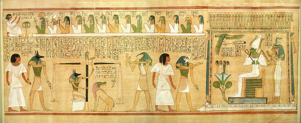 Egyptian painting of Osiris