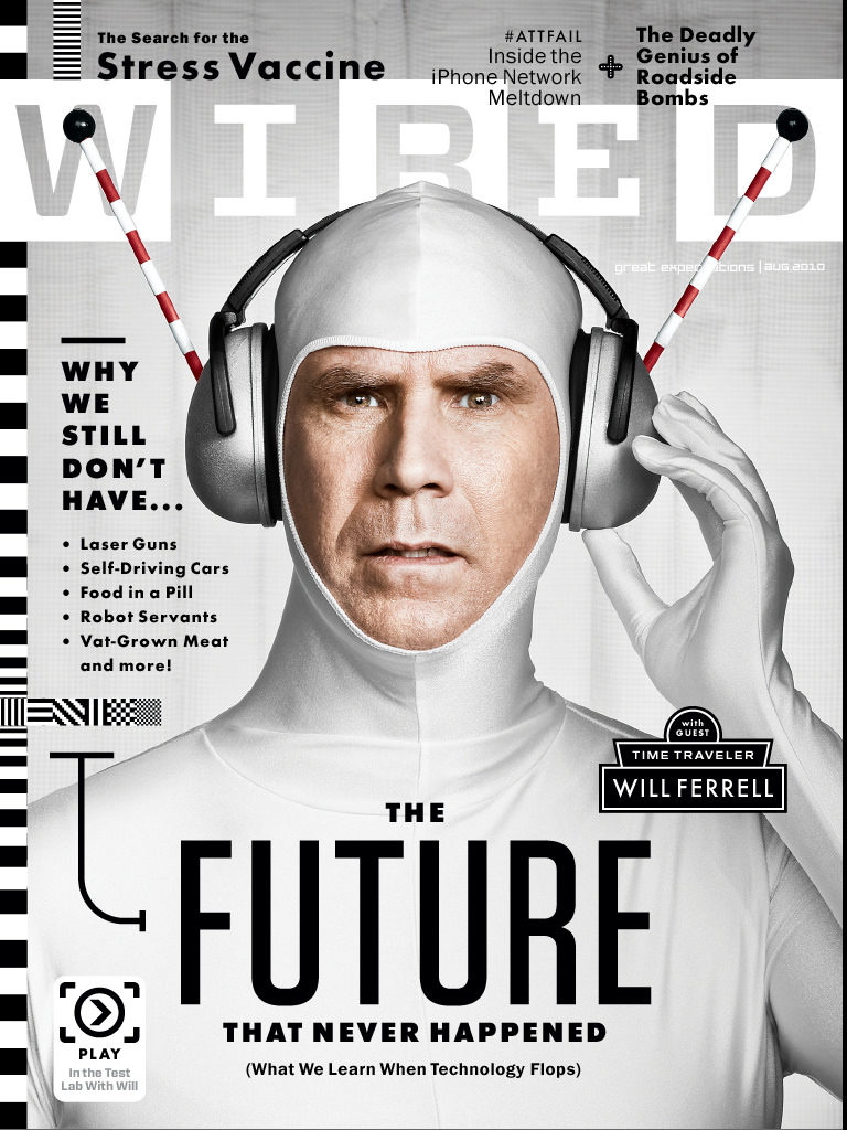 Will Ferrell on the cover of Wired magazine