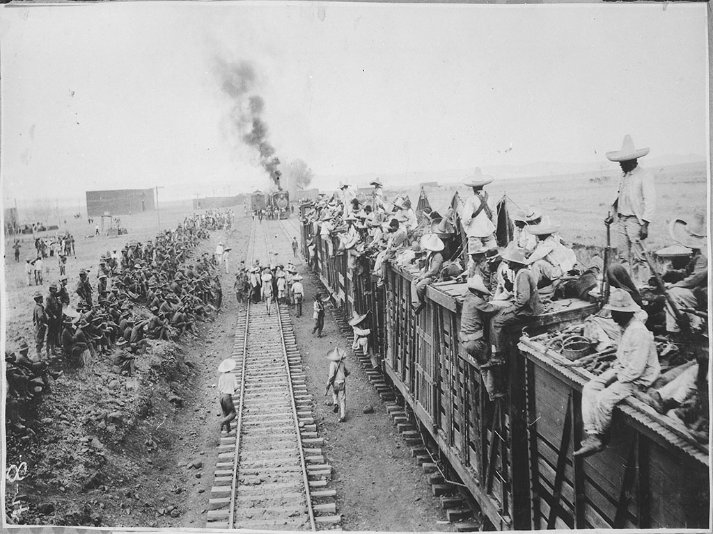 the Sixth Infantry and Carrancista troops together near San Antonio, Mexico, during the campaign to locate Pancho Villa