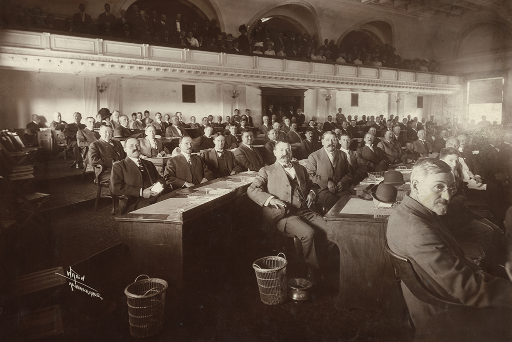 Delegates at the 1910 New Mexico Constitutional Convention held in Santa Fe
