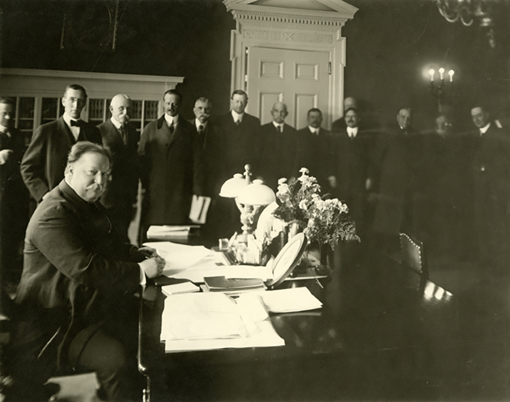 Taft signing the New Mexico state bill