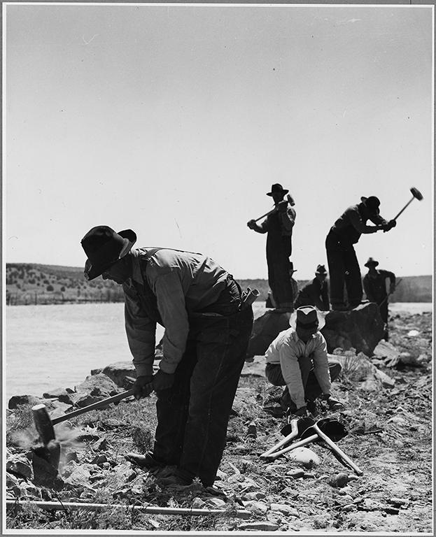 WPA Road workers near El Cerrito, San Miguel County, New Mexico