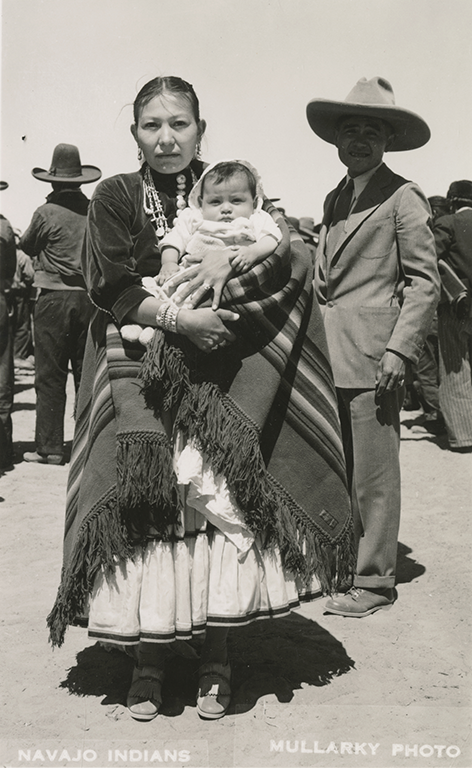 Navajo woman and her child during the Depression era