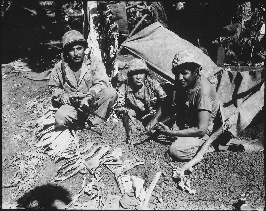 Navajo Code Talkers on the island of Saipan