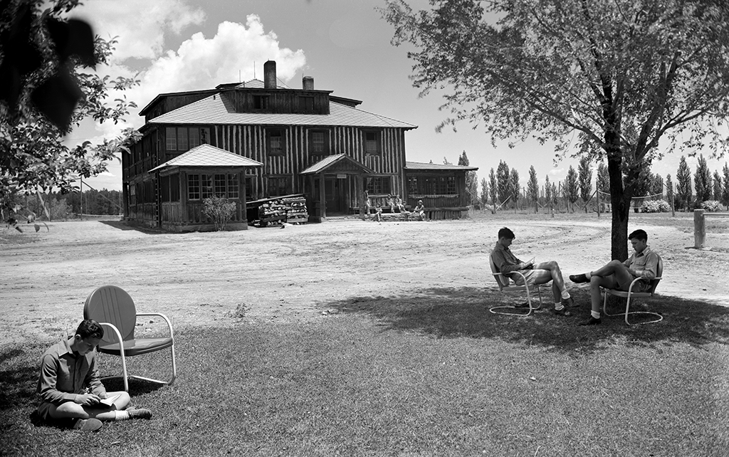 One of the dormitories at the Boys Ranch on the Pajarito Plateau