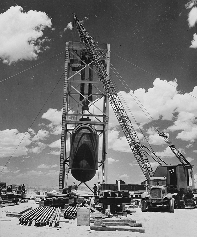 Jumbo, the 214-ton tank designed to capture the plutonium of the atomic test at Trinity