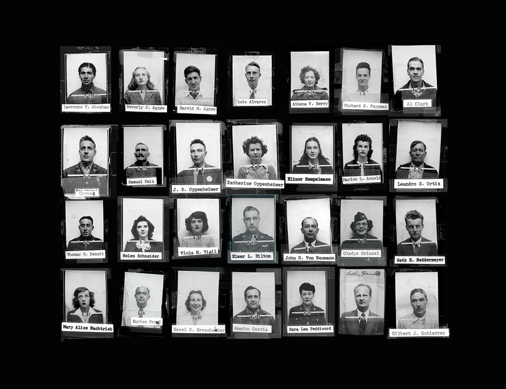ID badges for scientists who worked on the Manhattan Project at Los Alamos