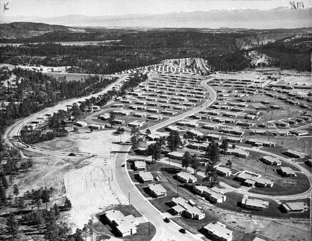 Los Alamos neighborhoods in the early 1950s