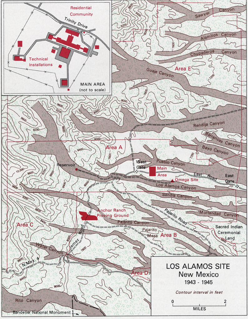 Los Alamos Site Map