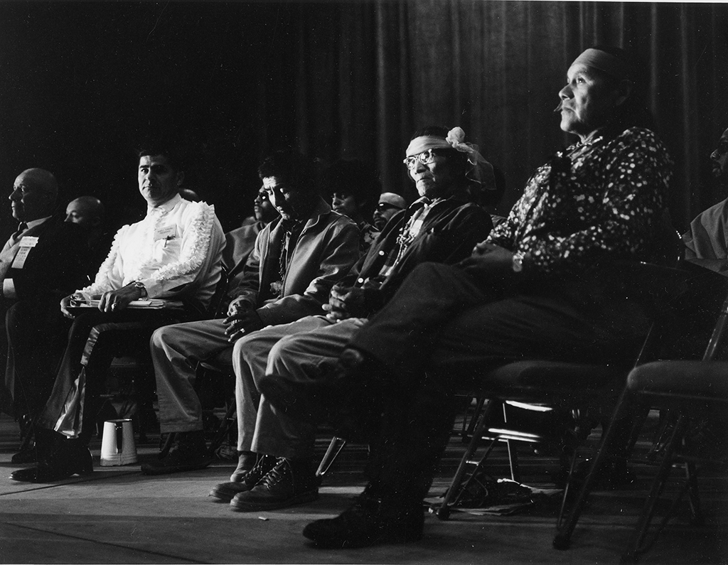 Reies López Tijerina and other activists at the 1967 Alianza Convention in Albuquerque