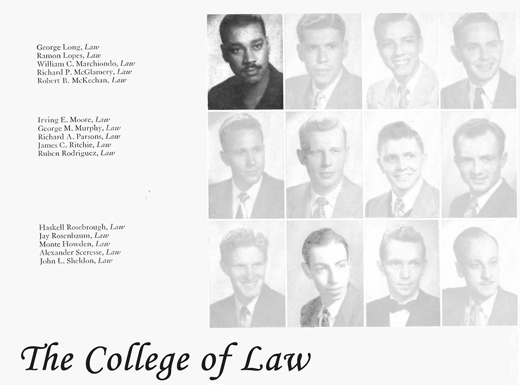 George Long during his time at UNM's law school