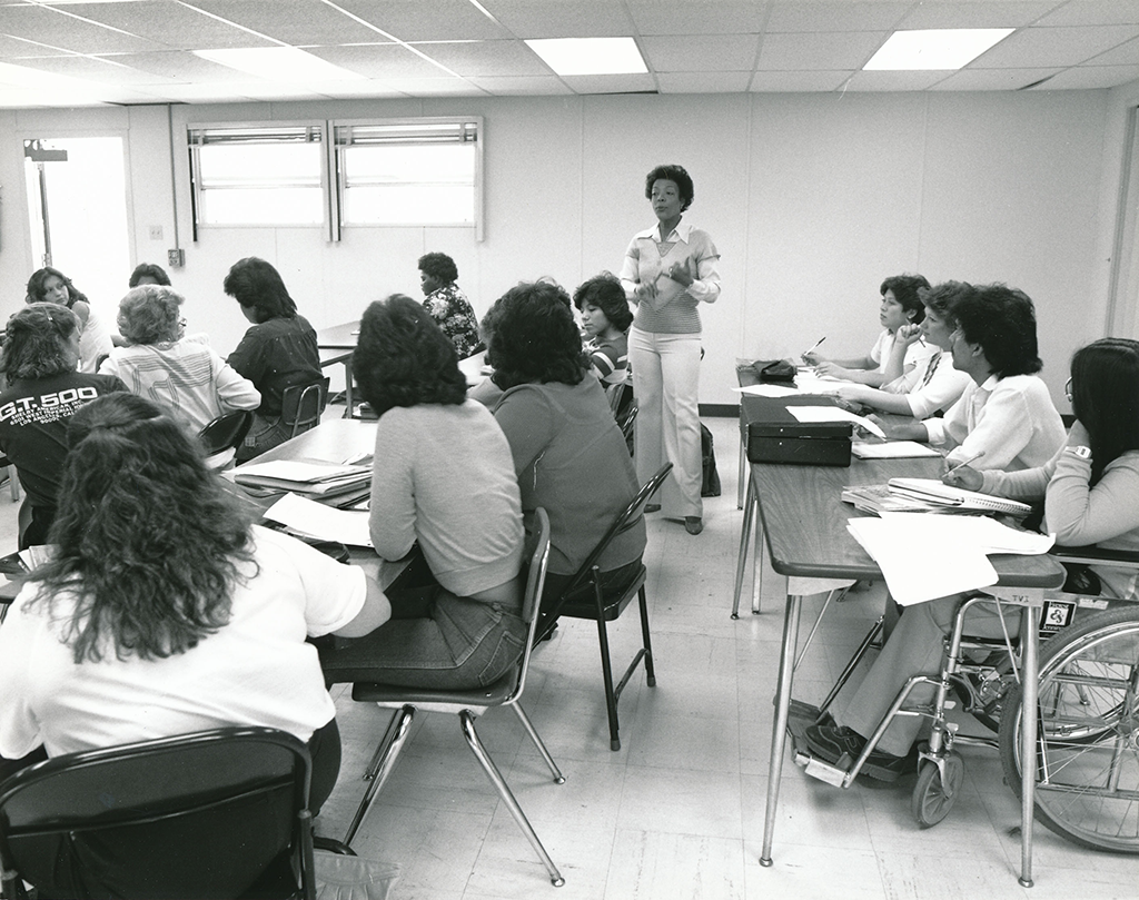 African American men and women taught at Albuquerque's Technical Vocational Institute