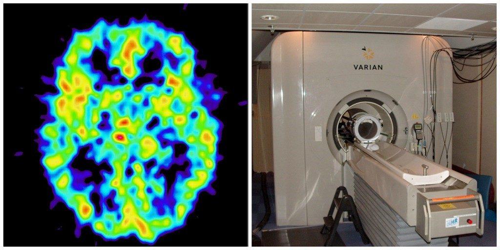 fMRI scan and machine