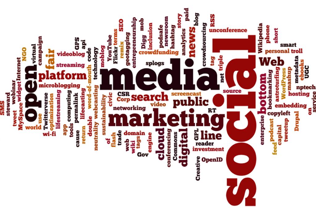Words, media, marketing, digital, social media